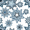 Seamless pentagram pattern Stock Image