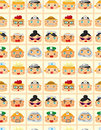 Seamless people face pattern Stock Photography