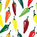 Seamless pepper pattern Stock Image