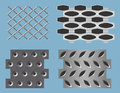 Seamless perforated metal patterns Royalty Free Stock Photos
