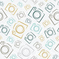 Seamless photo cameras pattern background Royalty Free Stock Photography