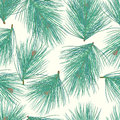 Seamless pine-tree vector background pattern