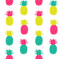 Seamless pineapple pattern Vector illustration. Hand drawn repeated for web, print, wallpaper, fashion fabric, textile Royalty Free Stock Photo