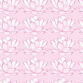 Seamless pink background with white lotus.  seamless pattern.