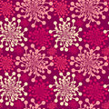 Seamless pink dandelions