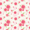 Seamless pink flower pattern Stock Photos