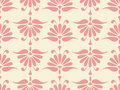 Seamless pink flower pattern Royalty Free Stock Photo