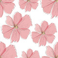 Seamless pink flower pattern Royalty Free Stock Image