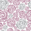 Seamless pink grunge rose pattern Royalty Free Stock Photo