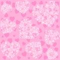 Seamless Pink Heart Pattern