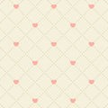 Seamless pink heart pattern Royalty Free Stock Photo