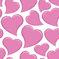 Seamless Pink Hearts Stock Image