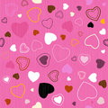 Seamless pink hearts pattern vector Stock Photos