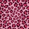 Seamless pink leopard texture pattern.