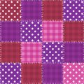 Seamless pink patchwork pattern quilt background Royalty Free Stock Images