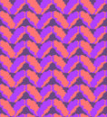 Seamless pink and purple knitting pattern