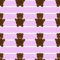 Seamless Pink Teddy Bear Patter