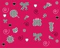 Seamless pink wallpapers patterns   Stock Photos