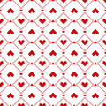 Seamless pixel hearts pattern design with style Stock Photos