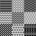 Seamless pixel patterns set vector illustration Royalty Free Stock Images