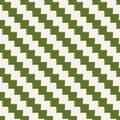 Seamless pixelated diagonal stripes pattern Royalty Free Stock Photo
