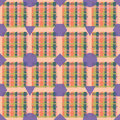 Seamless plaid design a pattern of a with shapes Royalty Free Stock Photo