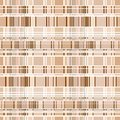 Seamless plaid pattern material with brown lines Royalty Free Stock Image
