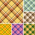 Seamless plaid patterns Stock Photos