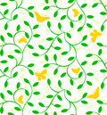 Seamless plants pattern Royalty Free Stock Images