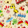 Seamless playground pattern Royalty Free Stock Photography