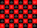 Seamless poker pattern Royalty Free Stock Photography