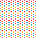 Seamless Polka Dot Background, Colorful Pattern for Textile Royalty Free Stock Photo