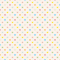 Seamless polka dot colorful pattern with hearts vector Royalty Free Stock Photography