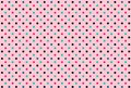 Seamless polka dots pink background. Illustration design
