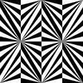 Seamless Polygonal Black and White Striped Pattern. Geometric Abstract Background. Suitable for textile, fabric and packaging