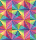 Seamless Pastel Colored Polygonal  Pattern. Rainbow Geometric Abstract Background
