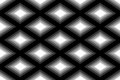 Seamless Polygonal Monochrome Diamond Pattern. Geometric Abstract Background. Suitable for textile, fabric, packaging and web desi