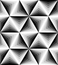 Seamless Polygonal Monochrome Pattern. Geometric Abstract Background. Suitable for textile, fabric and packaging