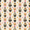 Seamless priest pattern Stock Image