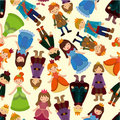 Seamless Prince and Princess pattern Royalty Free Stock Photo