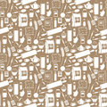 Seamless products pattern Stock Photos