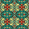 Seamless psychedelic patter pattern decorative texture in Royalty Free Stock Photography