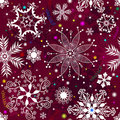 Seamless purple christmas pattern Royalty Free Stock Photo