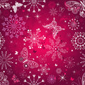 Seamless purple christmas pattern Stock Photo