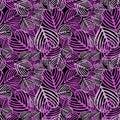 Seamless Purple fallen foliage