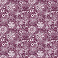Seamless purple white vintage pattern with flowers and butterflies vector eps Stock Photography
