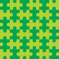 Seamless Puzzle - Green  Royalty Free Stock Images