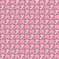 Seamless puzzle with mixed pink colors Stock Photography