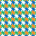 Seamless puzzle pattern Royalty Free Stock Images