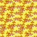 Seamless puzzle pattern
